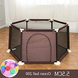 WSSF- Summer Deluxe Infant Play Playpens Kids Safety Fences