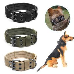 XL Tactical Military Adjustable Dog Training Collar Nylon Le